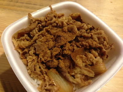 ジャーク牛丼(beef bowl with JerkChiken seasoning)